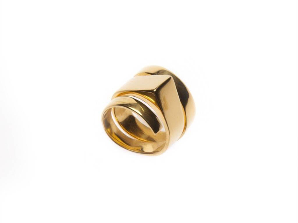gold helix ring