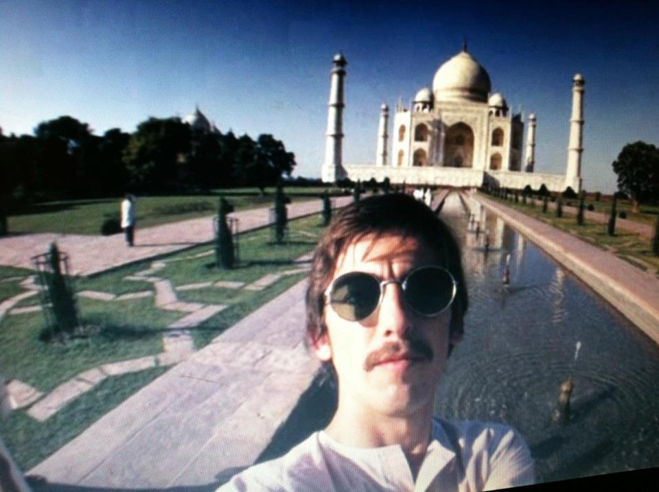 george harrison beatles taj mahal india selfie