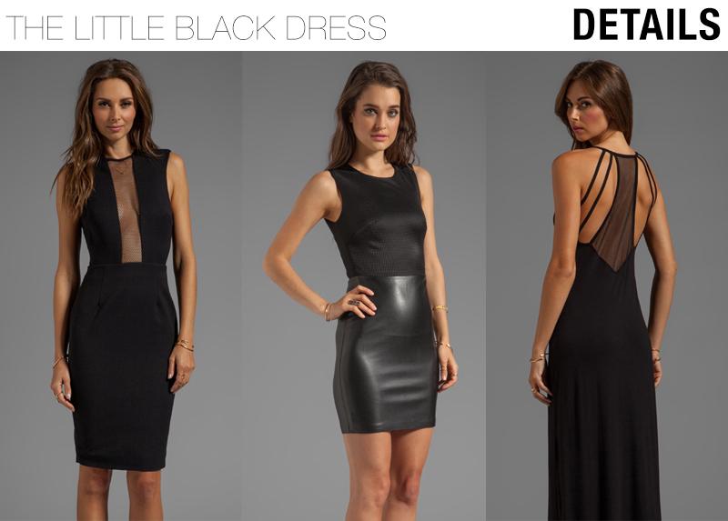 details on little black dresses