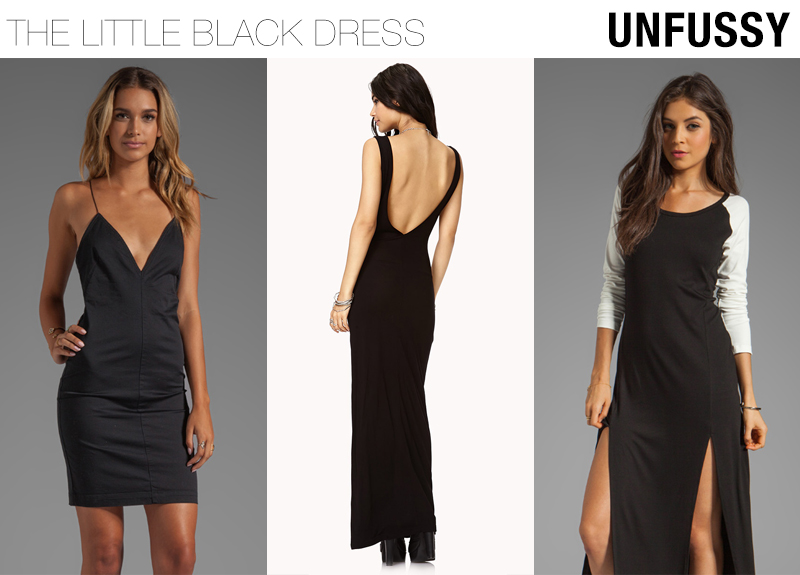 unfussy little black dresses