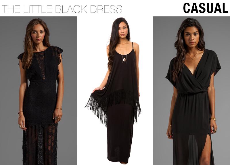casual little black dresses