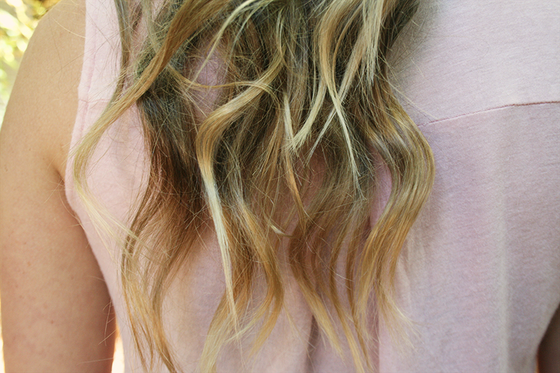 blonde hair ombre tips
