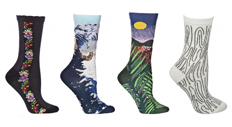 colorful, pattterned ozone socks