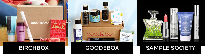 birchbox, goodebox, sample society