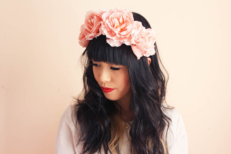 floral headpiece etsy shoot