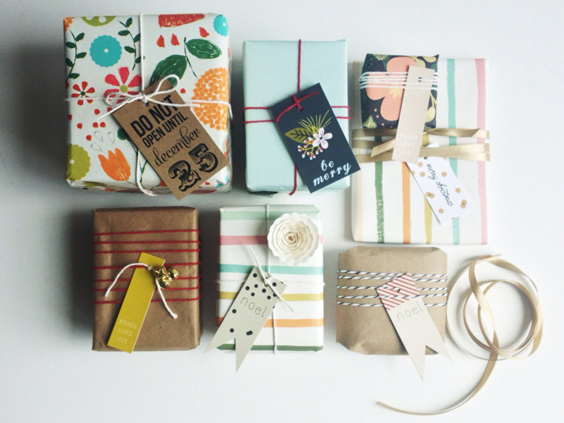 holiday shopping - gift wrap