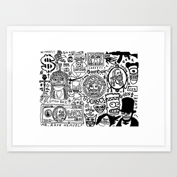 goons framed art print