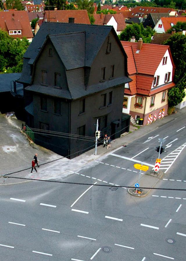 Haus in Schwarz