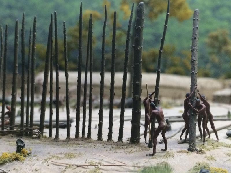 Mohawk Iroquois Village Diorama