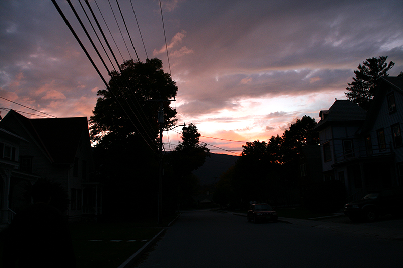 Late September Sunset in Vermont
