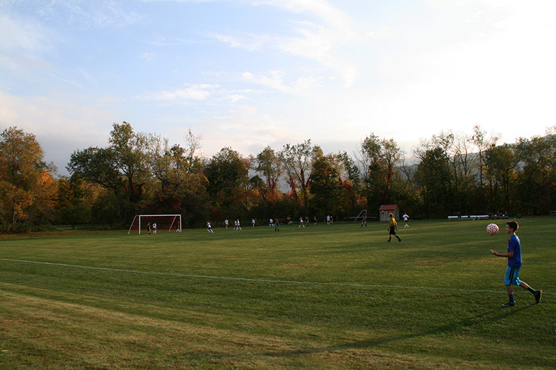 Vermont Autumn Soccer Field