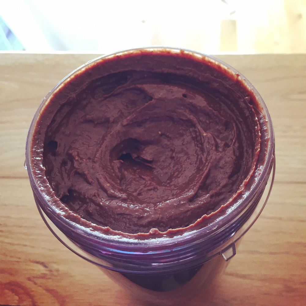 Homemade chocolate creme