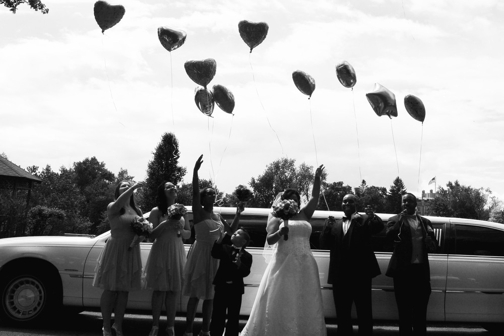 Balloon release wedding Ashley's Perfect Prints