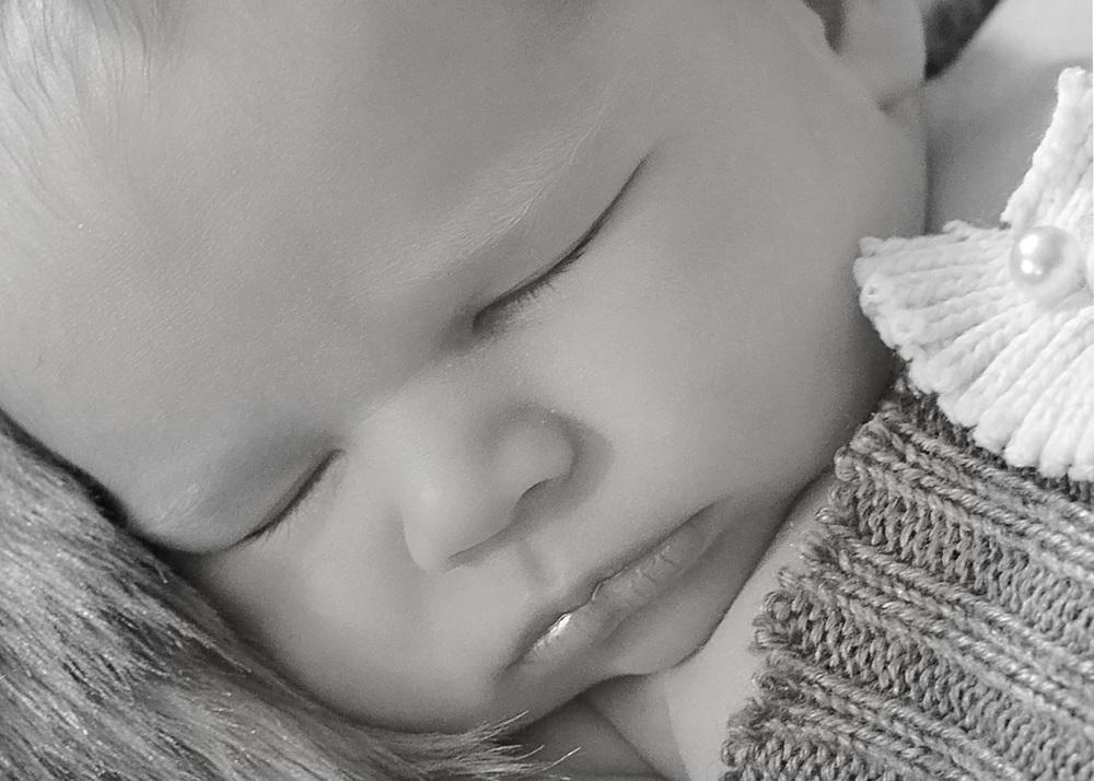 Newborn detail close up
