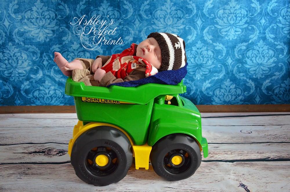 John Deere newborn photo