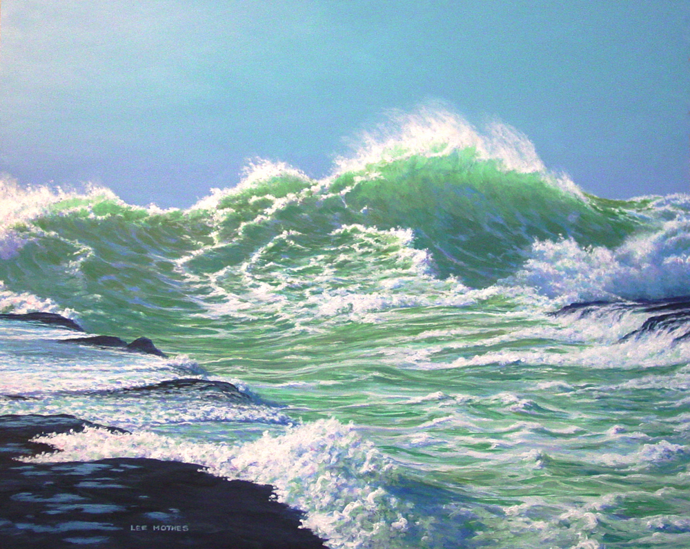 "Newest painting titled ""North of Westport"", 16"" by 20"" acrylic on panel.  (sold)"