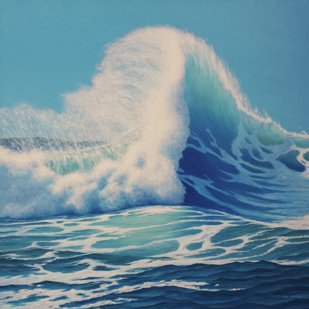 """Big Splash"" 36"" by 36"" acrylic on canvas will be featured at the Jill Logan Galeria."