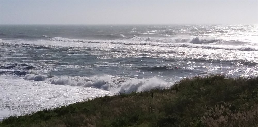Last week I saw this roaring surf on the Lost Coast, in southern Humboldt County, California.  The beaches are accessed by hiking in from the end of the road. New ideas for artwork will emerge from this...