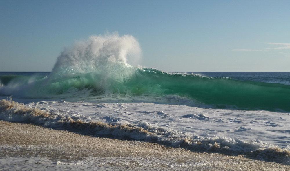 Backwash and shorebreak collide - great ocean energy! Photo from Todos Santos last week.