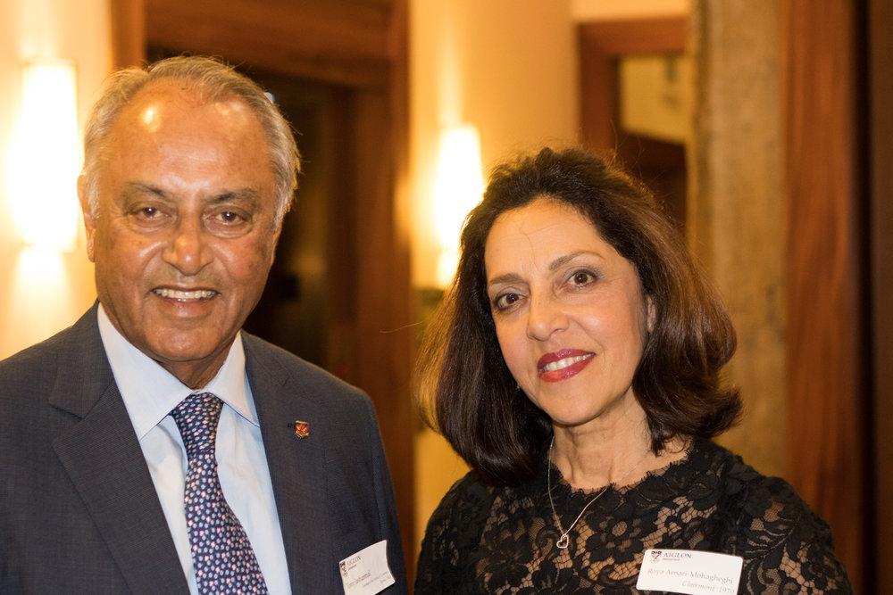 Tony Jashanmal '65 and Roya Ansari Mohagheghi '79