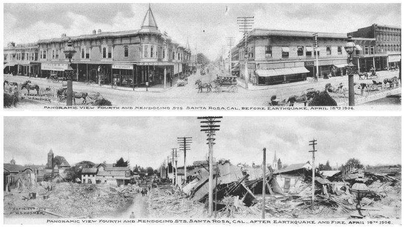 before and after the 1906 earthquake and fires