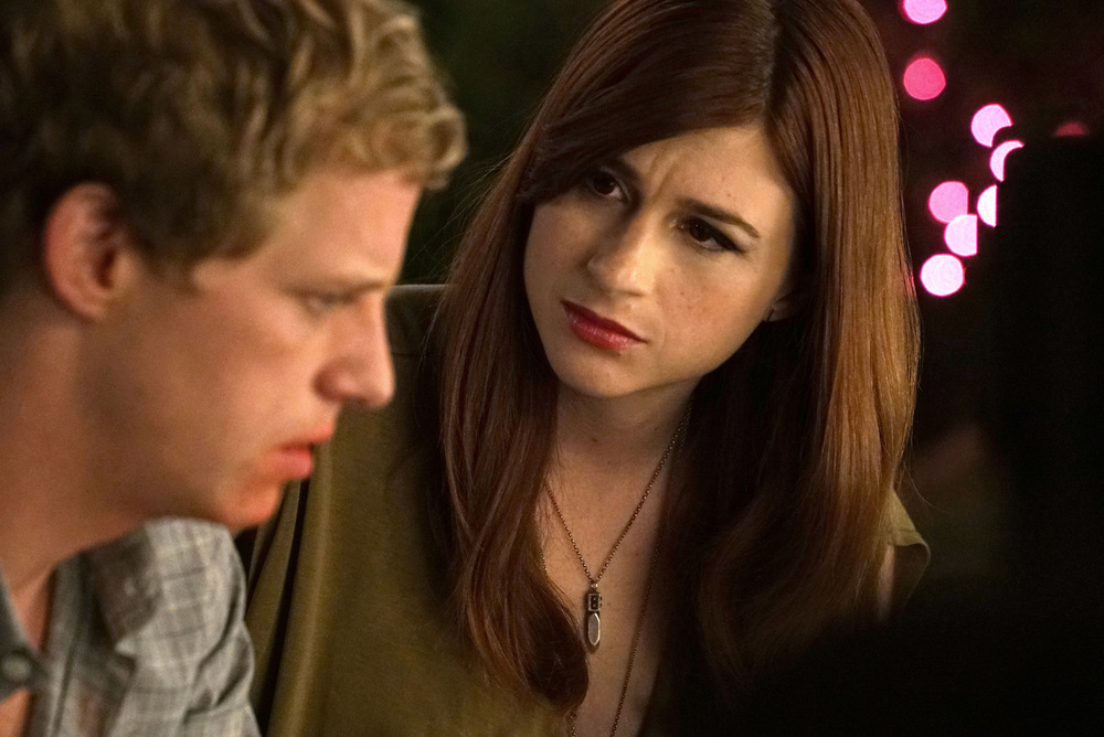 Chris Geere as Jimmy, and Aya Cash as Gretchen. Credit: Byron Cohen/FX