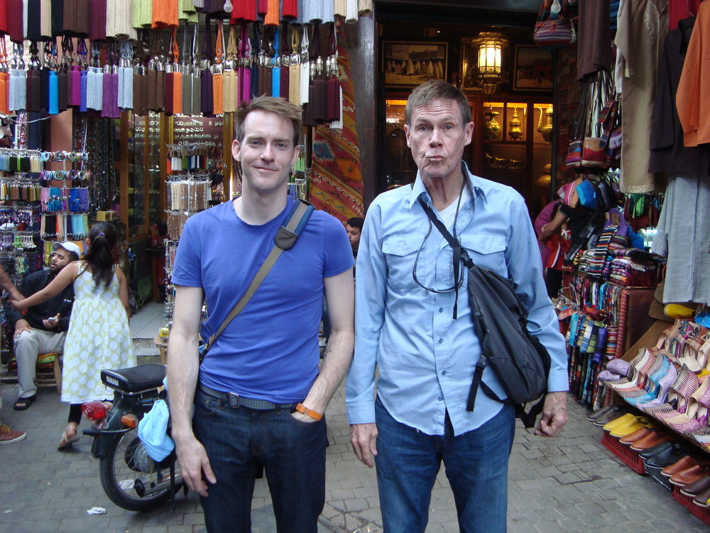 Visiting the medina in Marrakech with my dad.