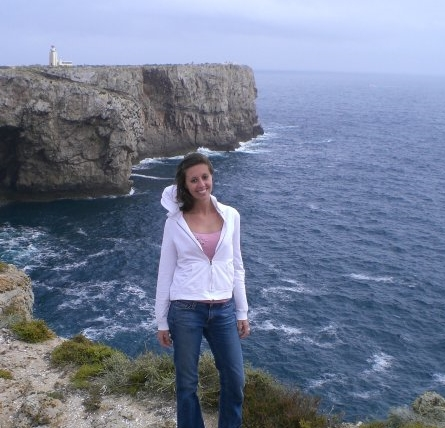On the cliffs in Lagos, Portugal.