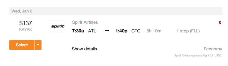 ATL-CTG Flights