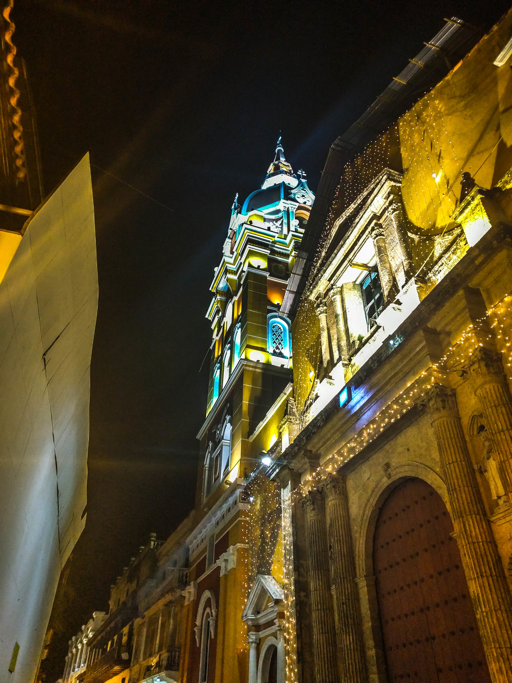 Cartagena- Cathedral San Rafael from below RTW.jpg