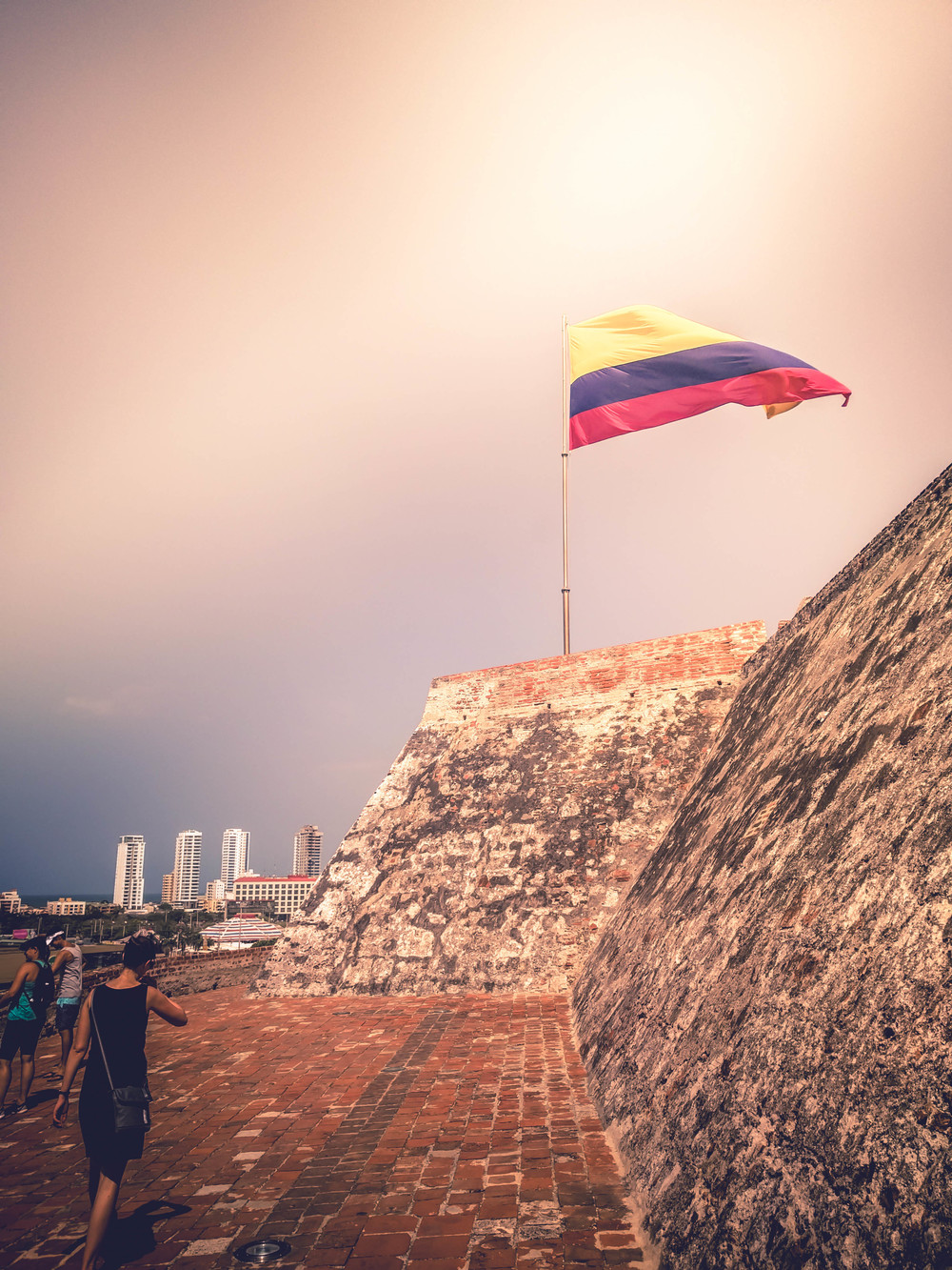 Cartagena- Jess in front fort flag RTW.jpg