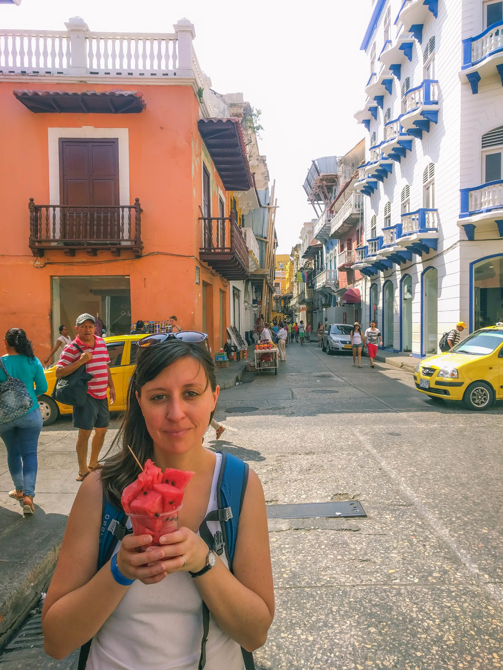 Cartagena- Jess holding watermelon on street RTW.jpg