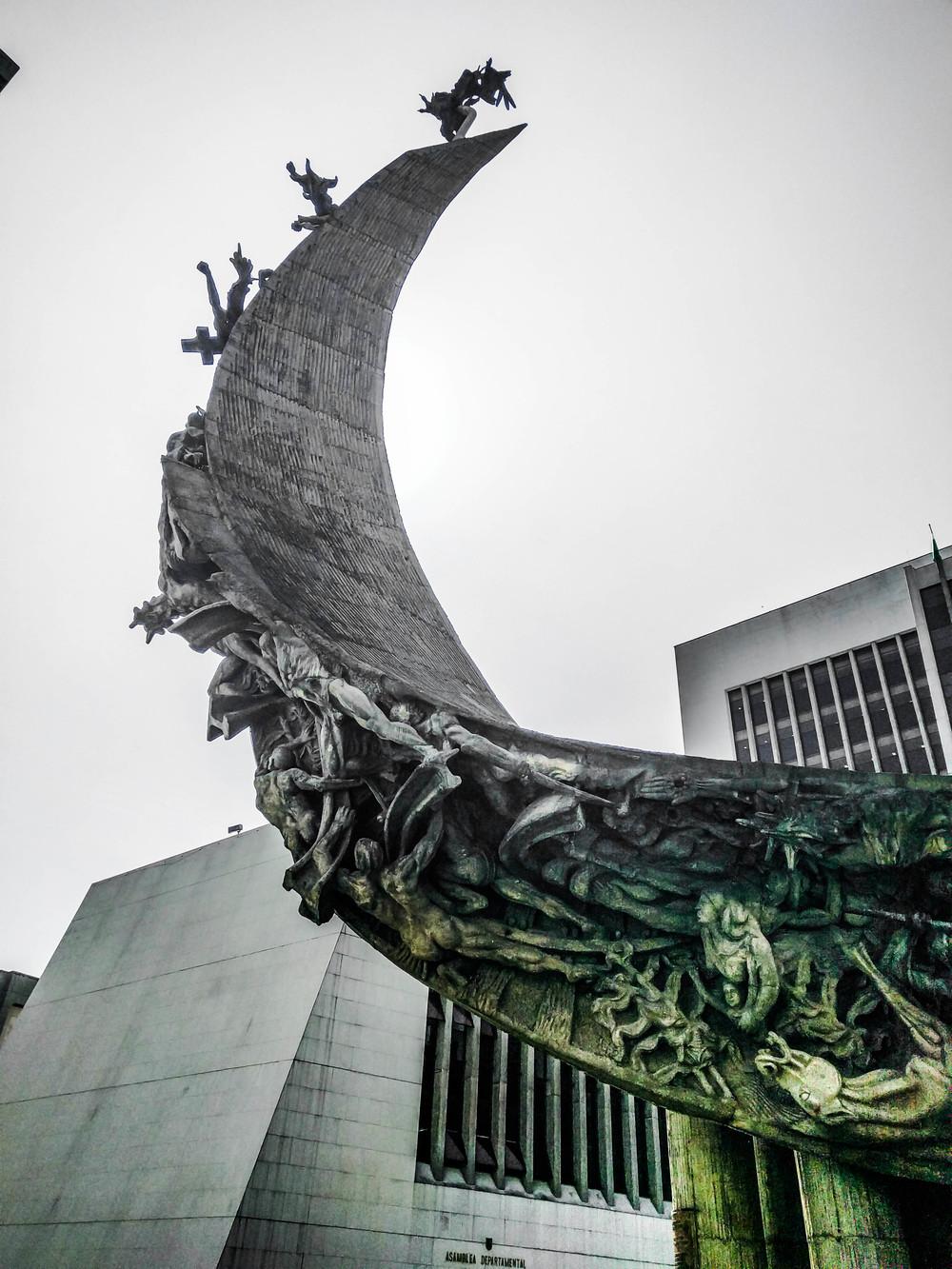 Medellin- Admin monument sun behind.jpg