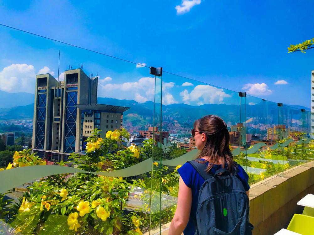 Medellin- Jess at mall window.jpg