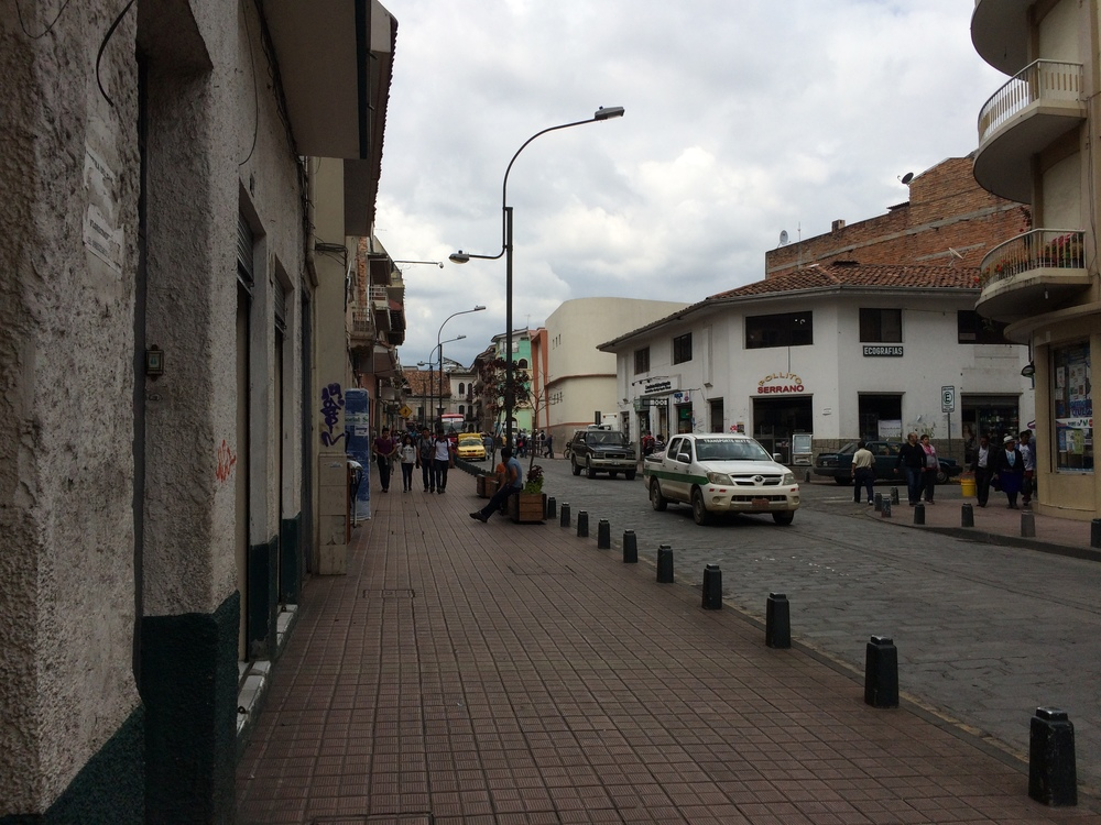 The street our apartment is on in Cuenca