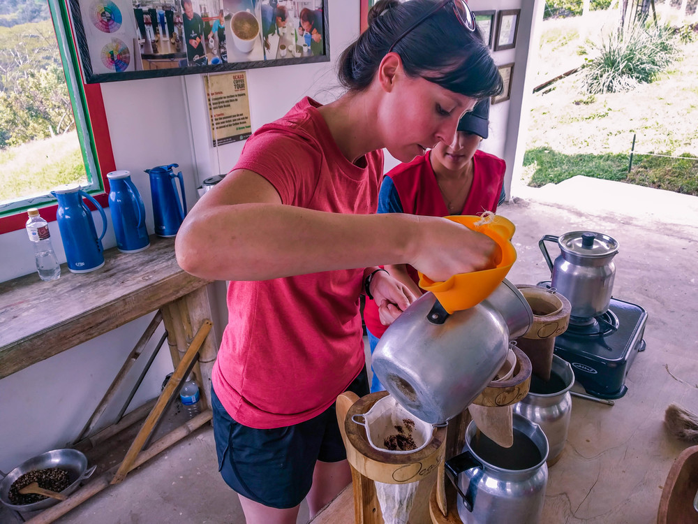 Learning how to brew delicious Colombian coffee
