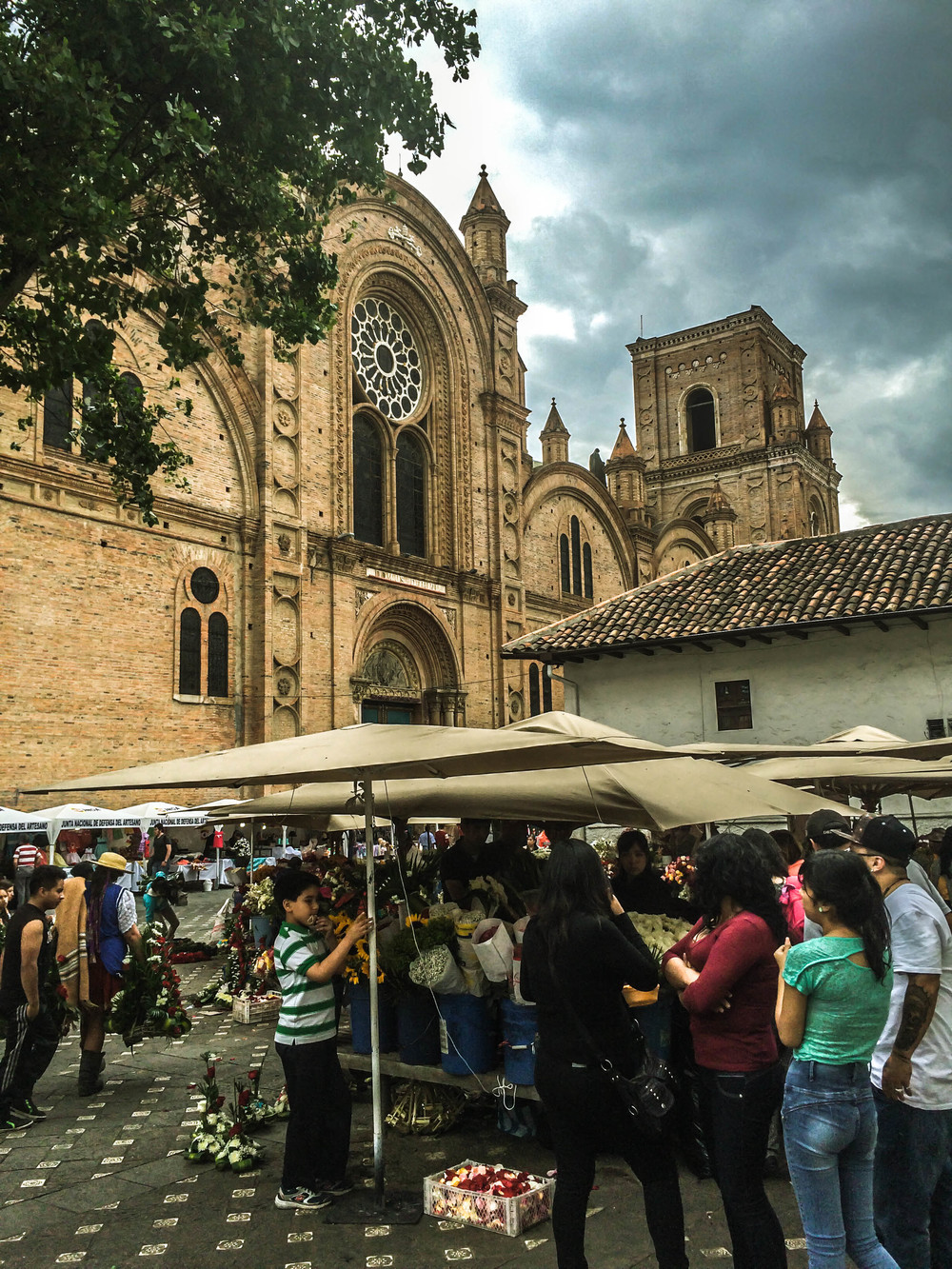 Cuenca- flower market plus church.jpg