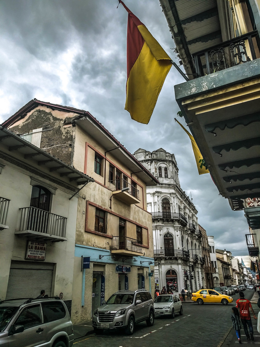 Cuenca- street and flag.jpg