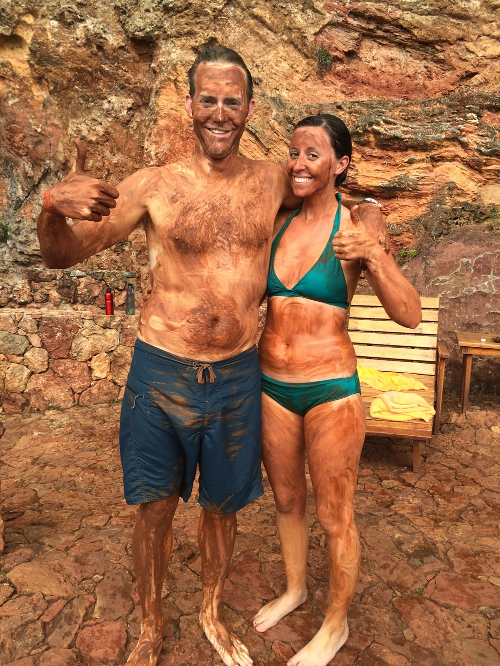 Slathering each other with mud in Ecuador was definitely a memorable honeymoon experience.