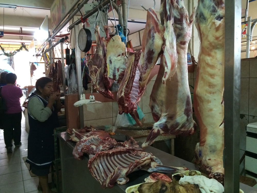 The meat section of the market in Cuenca. Oh the smells.
