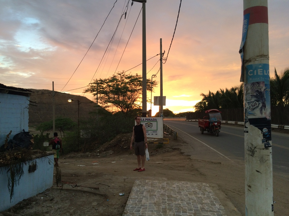 Walking home from dinner in Mancora, Peru.