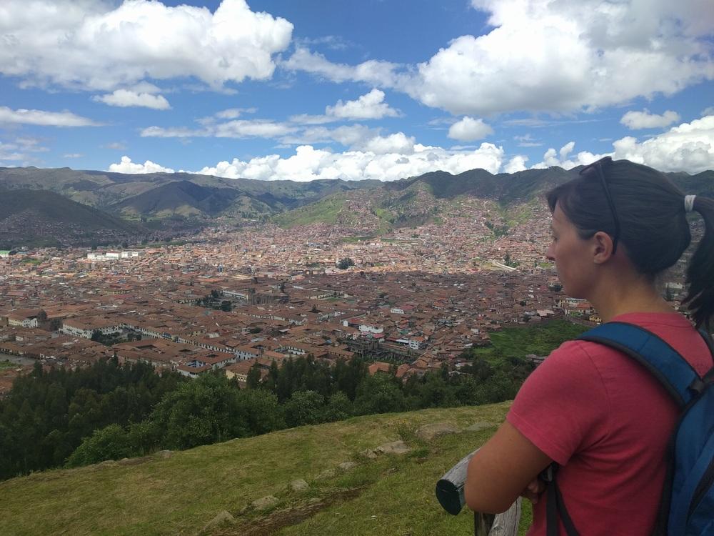 Hiking in Cusco, Peru.
