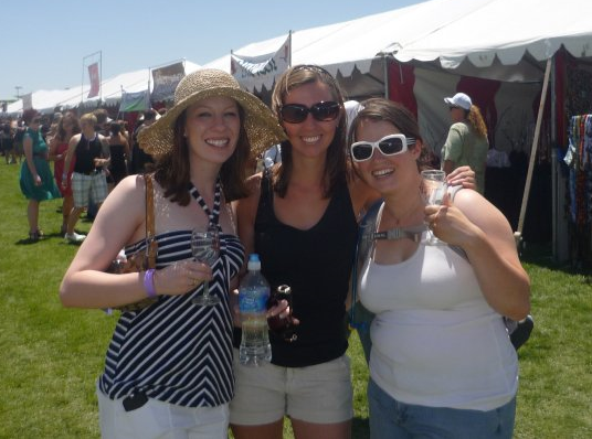 At the New Mexico Wine Festival with Marina and Christina.