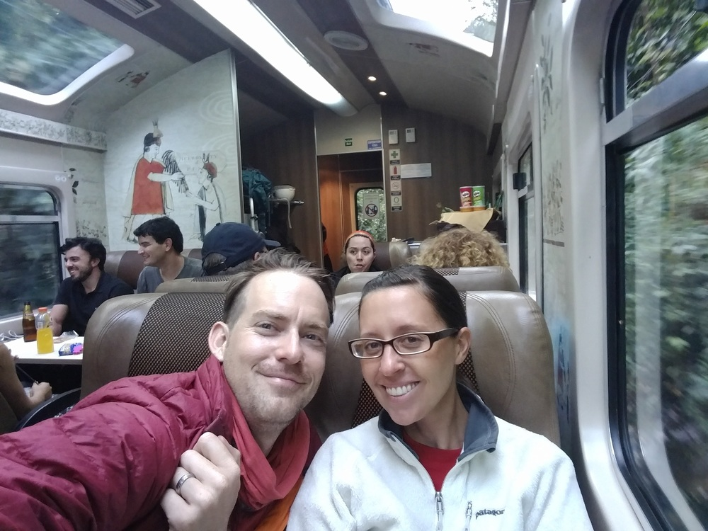 On PeruRail headed back toward Cusco from Machu Picchu