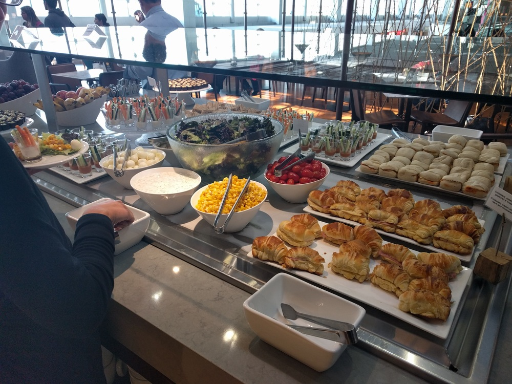 So much free food in the VIP lounges!