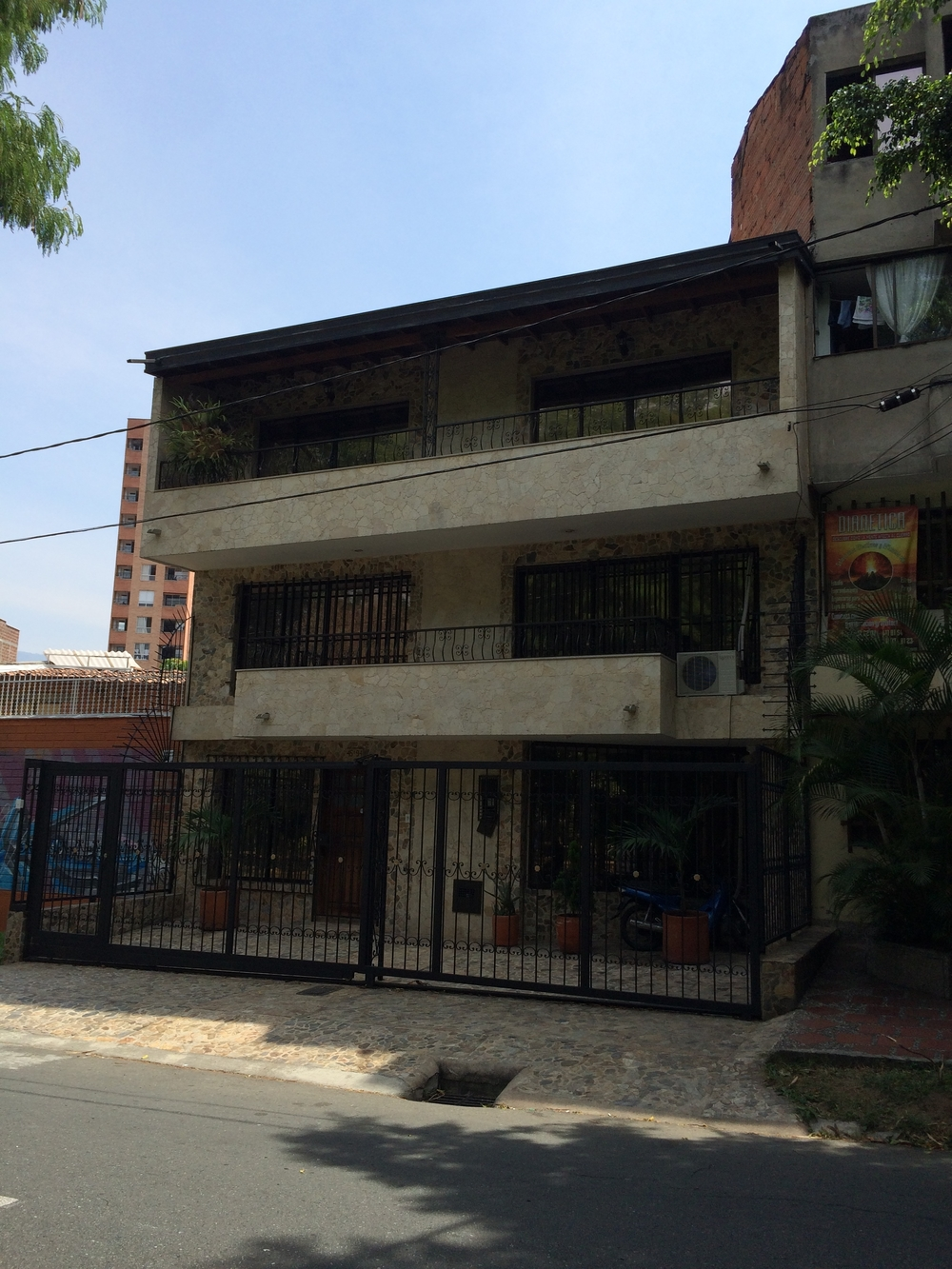 The apartment building where Pablo Escobar was eventually found and killed.