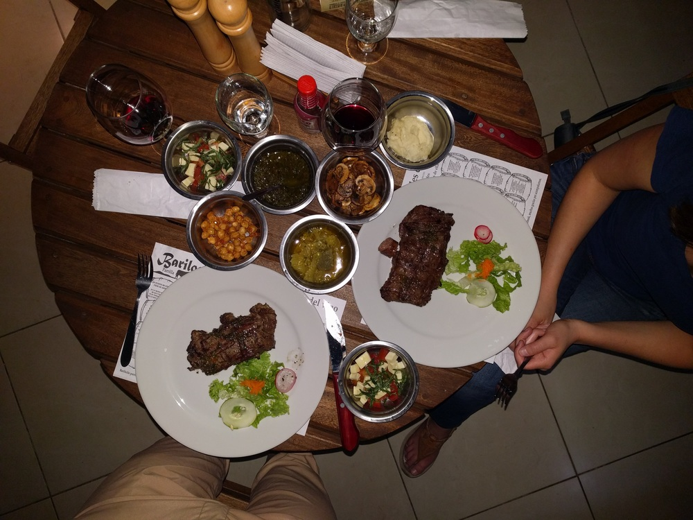 Full Parilla Steak Dinner in Colombia