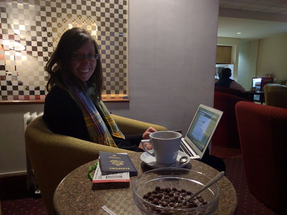 La Paz Airport VIP Lounge Breakfast