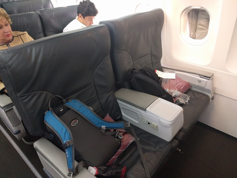 La Paz to Capetown: Avianca First Class Seats