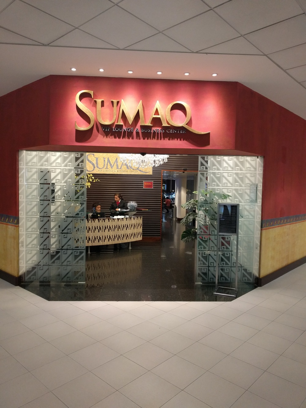 Jorge Chavez International Airport Sumaq Lounge Entrance